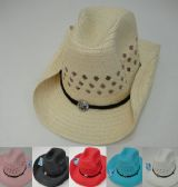 120 Units of Mesh Cowboy Hat with Medallion on Hat Band - Cowboy & Boonie Hat