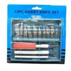 72 Units of HOBBY KNIFE SET 13 PC IN CASE - Hardware > Miscellaneous