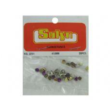 144 Units of 20 pc 4 1/2mm purple rhinestones - Rocks, Stones & Sand