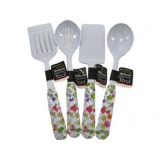 72 Units of kitchen melamine tool floral design 4 assorted styles - Kitchen Utensils