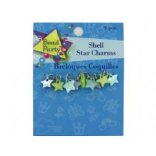 72 Units of Pastel shell star charms, pack of 9