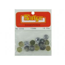 72 Units of Green rhinetones, pack of 10