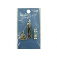 144 Units of Cell phone enameled charms