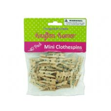 72 Units of Mini craft clothespins - Laundry Supplies