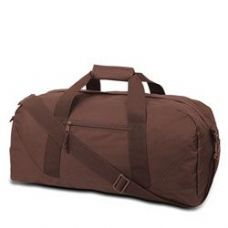 12 Units of Large Square Duffel - Brown - Duffle Bags