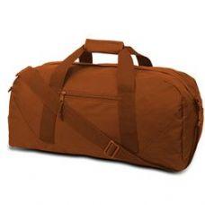 12 Units of Large Square Duffel - Burnt Orange - Duffle Bags