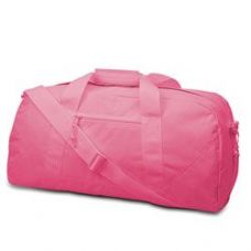 12 Units of  Large Square Duffel - Hot Pink - Duffle Bags