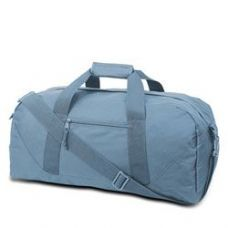 12 Units of Large Square Duffel - Light Blue - Duffle Bags