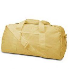 12 Units of  Large Square Duffel - Light Tan - Duffle Bags