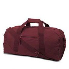 12 Units of  Large Square Duffel - Maroon - Duffle Bags