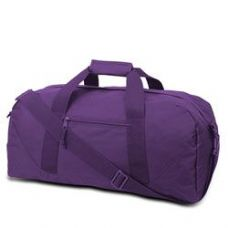12 Units of Large Square Duffel - Purple - Duffle Bags