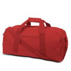 12 Units of  Large Square Duffel - Red - Duffle Bags