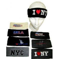144 Units of Assorted Winter Headbands for Adults - Headbands