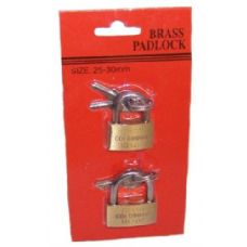 72 Units of Brass Mini Padlocks - PADLOCKS/IRON/BRASS/COMBO