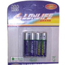 144 Units of 4 Pack AAA Batteries - Batteries