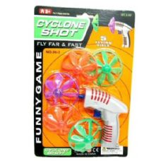 72 Units of Flying Disc Gun 5 Piece - Toy Weapons