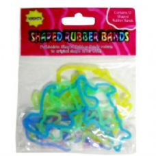 144 Units of Glow In The DarkScented GlitterRubber Fun Band - Rubber Bands