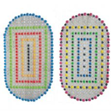 36 Units of Bath Mat Multi Color Dots 15in By 27in - Bath Mats