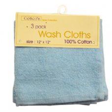 72 Units of Wash Cloth 12x12 3PK - Bath Towels