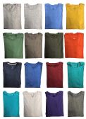 120 Units of SOCKSNBULK Mens Cotton Crew Neck Short Sleeve T-Shirts Mix Colors Bulk Pack Value Deal (120 Pack Mix, Large) - Mens T-Shirts