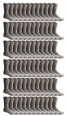 72 Units of SOCKSNBULK Bulk Pack Cotton Crew Socks, Size 9-11 (Gray) - Womens Crew Sock