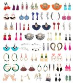 48 Piece Pack Of Wholesale Bulk Earrings And Necklaces, Sterling Silver Stainless Steel Jewelry Lot - Earrings
