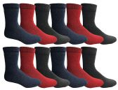 12 Units of Yacht And Smith Women's Thermal Winter Warm Socks, Sock Size 9-11 - Womens Thermal Socks