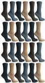 24 Units of SOCKSNBULK Womens Dress Crew Socks, Bulk Pack Assorted Chic Socks Size 9-11 - Womens Dress Socks
