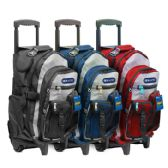 """6 Units of 18"""" Two-Tone Rolling Backpack - Backpacks"""
