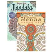 48 Units of Henna & Mandala Coloring Book for Adults - Coloring Books