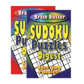 48 Units of Brain Teasing Sudoku Puzzle Book Digest Size - Puzzle Books