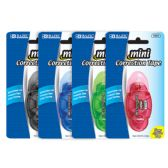 """12 Units of 5 mm x 196"""" Mini Correction Tape with Protective Cap"""