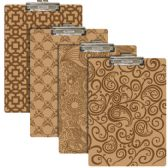 24 Units of Standard Size Pattern Hardboard Clipboard w/ Low Profile Clip - Clipboards and Binders