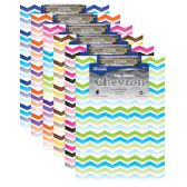 48 Units of Standard Size Chevron Paperboard Clipboard w/ Low Profile Clip - Clipboards and Binders