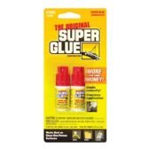 24 Units of PACER 0.11 Oz / 3g Jewelry / Nail Super Glue Bottle (2/Pack) - Glue Office and School