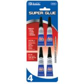 24 Units of 3g / 0.10 Oz. Super Glue (4/Pack) - Glue Office and School