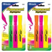 48 Units of Desk Style Fluorescent Highlighters (3/Pack) - Markers and Highlighters