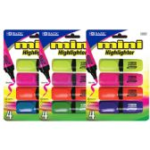 48 Units of Mini Desk Style Fluorescent Highlighters (4/Pack) - Markers and Highlighters