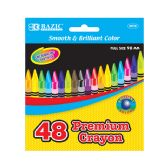 24 Units of 48 Ct. Premium Quality Color Crayon - Chalk,Chalkboards,Crayons