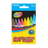 24 Units of 24 Color Premium Quality Crayon - Chalk,Chalkboards,Crayons