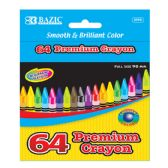 24 Units of 64 Ct. Premium Quality Color Crayon - Chalk,Chalkboards,Crayons
