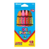 12 Units of Jumbo Oil Color Pastel 12 Pack - Art Paints