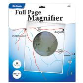 "12 Units of 8.5"" X 11"" 2x Full-Page Magnifier - MAGNIFYING GLASSES"