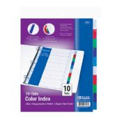 24 Units of 3-Ring Binder Dividers w/ 10-Color Tabs - Clipboards and Binders
