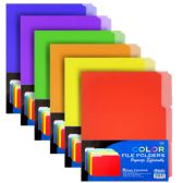 48 Units of 1/3 Cut Letter Size Color File Folder (6/Pack) - Folders and Report Covers