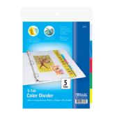 24 Units of 3-Ring Binder Dividers w/ 5-Insertable Color Tabs