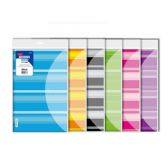 24 Units of Stripes Poly Letter Size Document Holder (2/Pack) - Folders and Report Covers