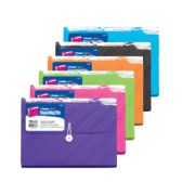 24 Units of Translucent 7-Pocket Letter Size Poly Expanding File - Folders and Report Covers