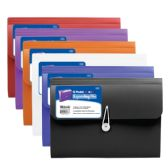6 Units of 13-Pocket Letter Size Poly Expanding File - Folders and Report Covers