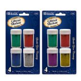 24 Units of 8g / 0.28 Oz. 4 Primary Color Glitter Shaker